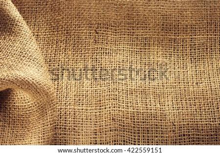 burlap hessian sacking as background texture - stock photo