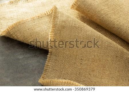 burlap hessian sacking at background texture - stock photo