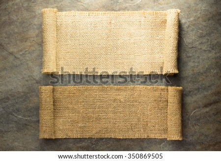burlap hessian sacking on background texture - stock photo