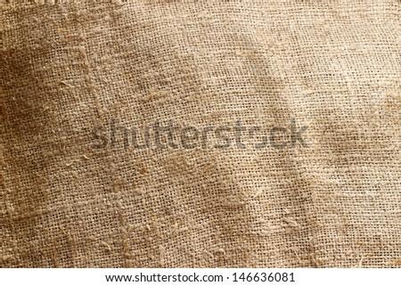 Burlap textile texture - stock photo