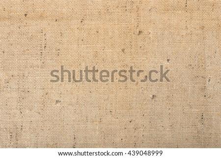 burlap textile texture background - stock photo