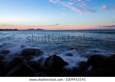 Burleigh Heads Sunset at Gold Coast