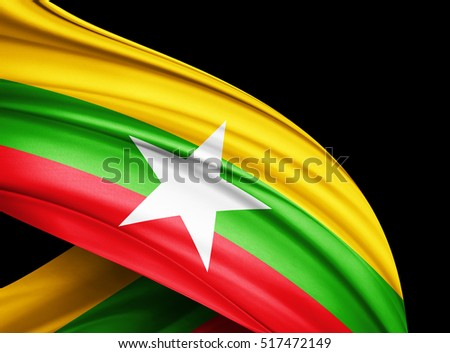 Myanmar Flag Stock Images, Royalty-Free Images & Vectors | Shutterstock