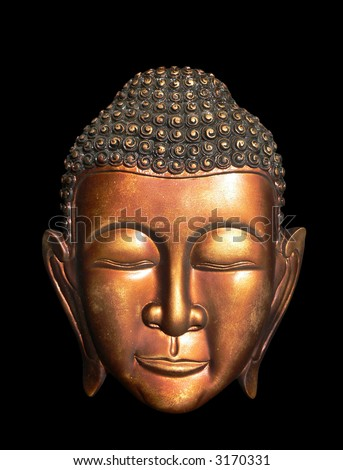 Burma (Myanmar) Buddha Face / Mask Ornament - stock photo