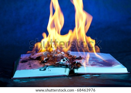 Burn Book  on the black background - stock photo