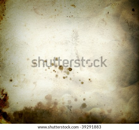 Burn old dirty stained a paper photo card - stock photo
