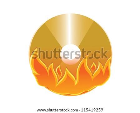 burned DVD disc - stock photo