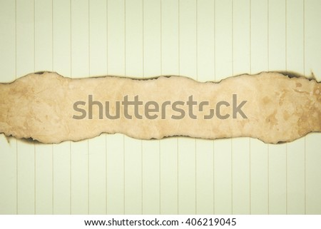 Burned paper - stock photo