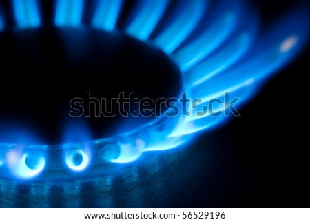 burner closeup - stock photo