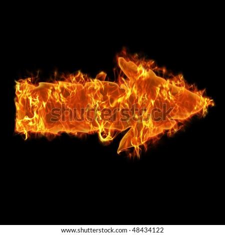 Burning arrow - stock photo