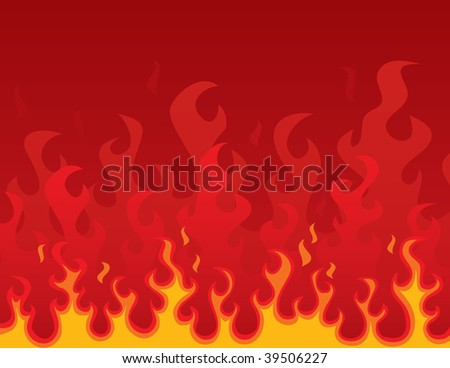Burning Background (in the gallery also available vector version of this image)