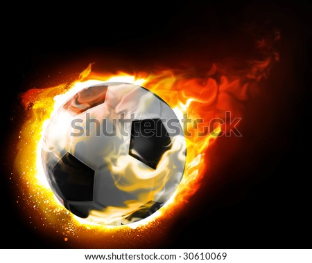 burning ball - stock photo