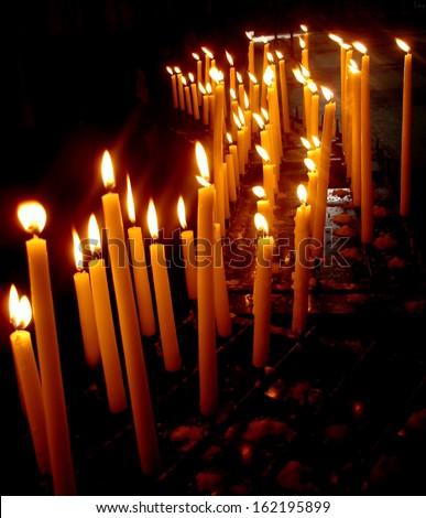 Burning candles  - stock photo