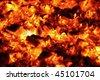 burning charcoal - stock photo