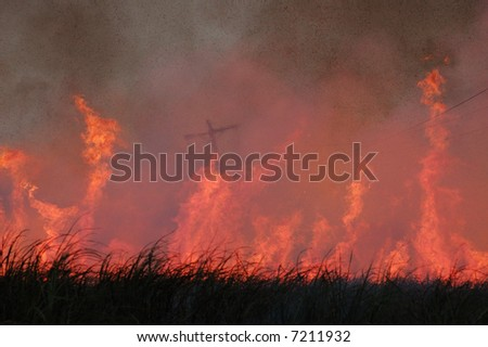 Burning cross - stock photo