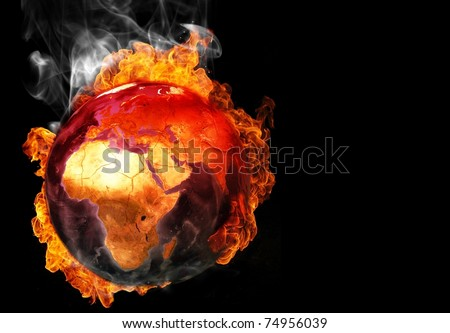 burning earth - stock photo
