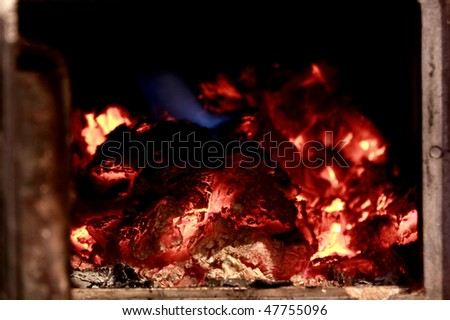 Burning fire close-up background