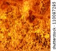 Burning fire flame background - stock photo