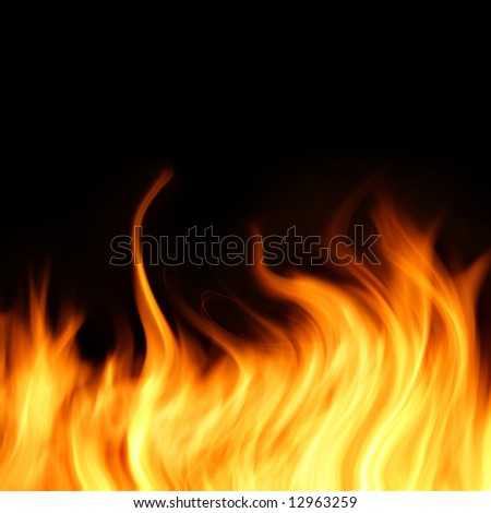 Burning fire, may be used as background - stock photo