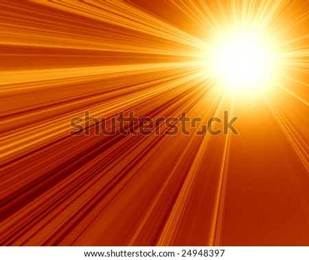 burning hot sun on a dark red background