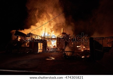 burning house in arieseni romania