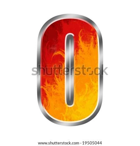 Burning letters alphabet O - stock photo