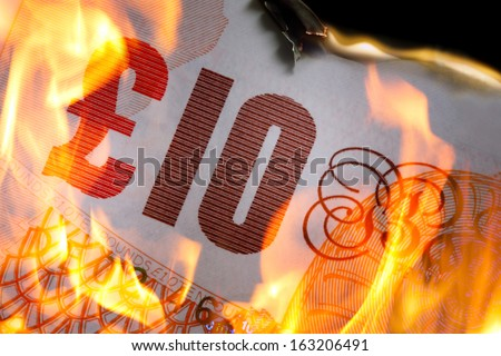burning Money - stock photo