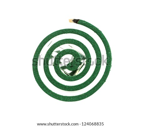 Burning mosquito coil as anti insect