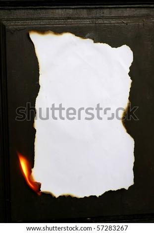 burning paper - stock photo