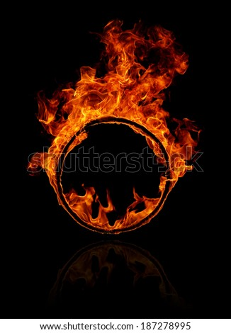 Burning round frame