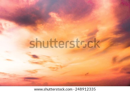 Burning Skies Idyllic Backdrop  - stock photo