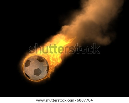 burning soccer ball - stock photo