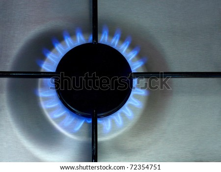 Burning stove - stock photo