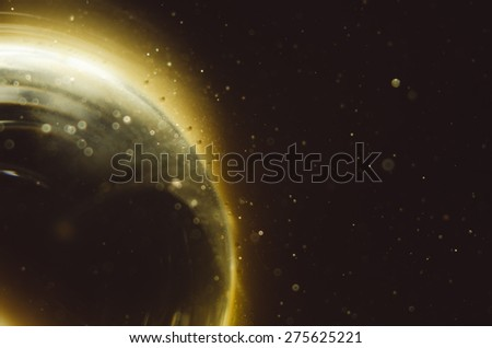 burning sun abstract space background - stock photo