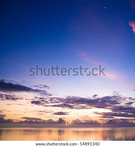Burning Sunset - stock photo