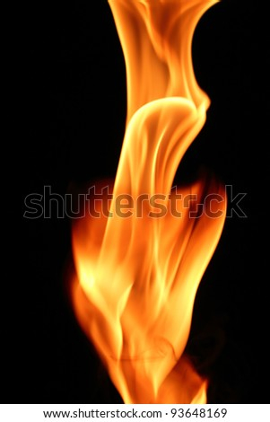 burning torch of fire - stock photo