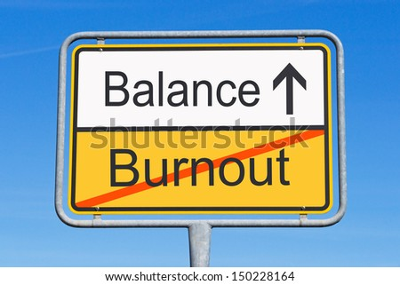 Burnout and Balance