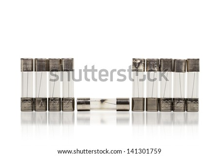 Burnout of a fuse - stock photo