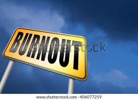 Burnout or work stress. Occupational burn out or job demotivation, exhaustion, no enthusiasm or motivation, ineffectiveness and demotivated. - stock photo