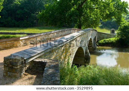 Burnside Bridge at Antietam Battlefield at Sharpsburg, Maryland, USA
