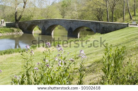 Burnside's Bridge at Antietam - stock photo