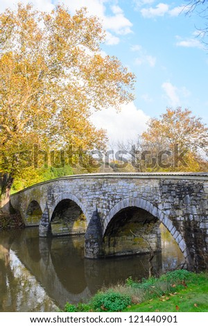 Burnside's Bridge at Antietam National Battlefield - stock photo