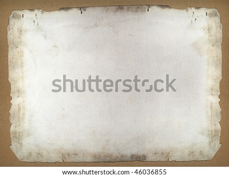 Burnt ancient frame paper - stock photo