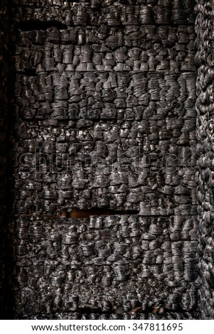 Burnt broken wood wall background texture
