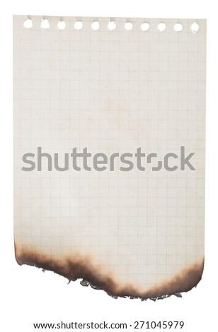 Burnt paper - stock photo