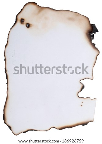 burnt paper great as a background - stock photo