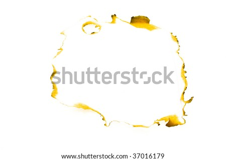 burnt piece of the paper - stock photo