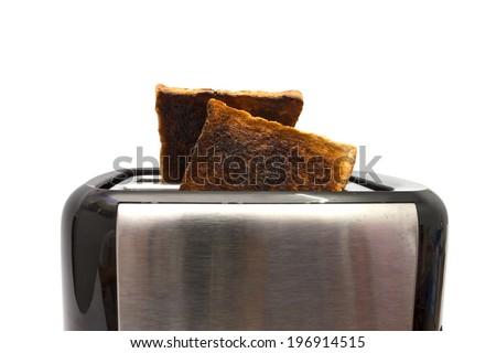 Burnt toast - stock photo