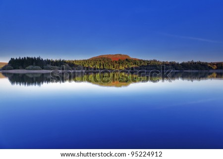 Burrator reservoir on Dartmoor National Park, UK - stock photo