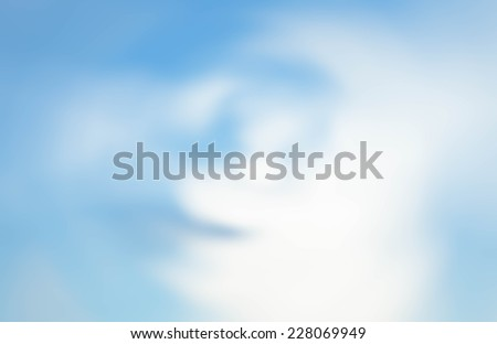Burred cloudy blue sky background for peaceful feel - stock photo